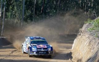 WRCポルトガル:シェイクダウン 新型にスイッチのミケがトップ、オストベルグ転倒