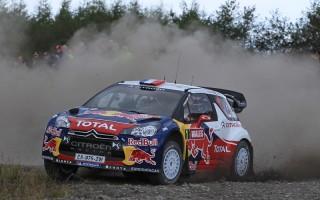 WRC第9戦GB 予選トップはローブ