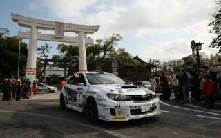 全日本ラリー唐津デイ1:勝田が10連覇に向けて0.5秒差の首位