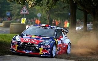 WRC第11戦フランス:シェイクダウンはローブがトップ
