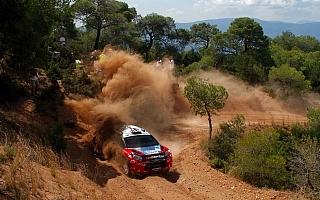 WRC第7戦アクロポリス:ペターがSS3を終えてトップ