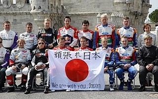 WRCドライバーたちが「頑張れ日本」!