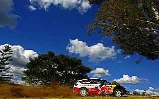 WRC第10戦オーストラリア デイ2:TOP3が0.1秒以内、ソルドが首位も緊迫戦続く
