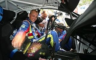 WRC第7戦アクロポリス:デイ2もヒルボネンがリード、ローブはぐっしゃり転倒リタイア