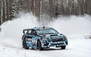 スバルラリーチームUSAの新型WRX STIがデビューウィン