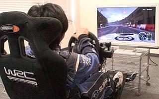 【編集部ブログ】<動画>新井選手がWRCゲームをプレイ!