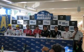 ラリー北海道イベント前記者会見、新型WRXの柳澤も出席