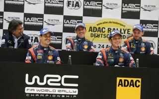 WRCドイツ:WRCポスト会見「6回転して脳みそが元に戻った」