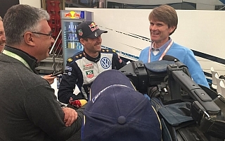 フィンランド最多勝者、グロンホルムがオジエを訪問