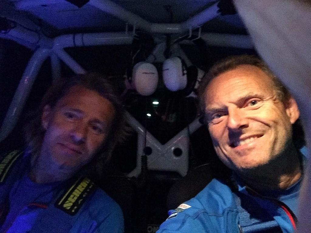 ルートノートクルーのベルント・コレヴォルド(ドライバー)とティモ・アランネ(コ・ドライバー)
