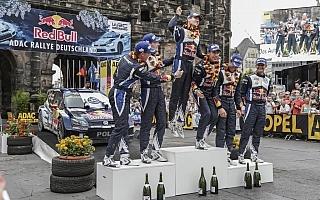 WRCドイツ・ポスト会見「ドライのラリードイツは最高」