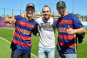 World RX こちらは、FCバルセロナのキャプテン、アンドレス・イニエスタ。僕の新しい友人だ!