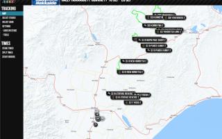 ラリー北海道:トラッキングシステムで戦況をチェック!