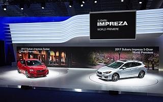 スバル、新型インプレッサをNY国際自動車ショーで世界初公開