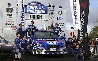 ラリー北海道:新井敏弘が逆転優勝、シリーズ連覇に望みを繋ぐ