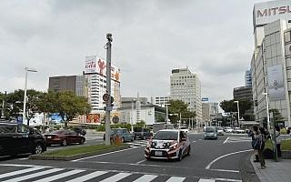 名古屋市中心部でラリーカーが新城ラリーをPR