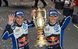 WRC英国・ポスト会見「ペターに並んだことは今年よかったことのひとつ」