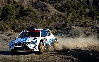 WRCモンテカルロ:WRC2はシュコダが1−2体制堅守
