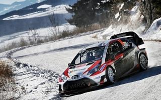 WRCモンテカルロ:トヨタのラトバラが2日目を終えて総合4番手、ハンニネンはコースオフ