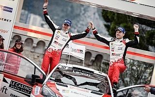 WRCモンテカルロ:トヨタのラトバラが2位フィニッシュ「想像もしていなかった結果」