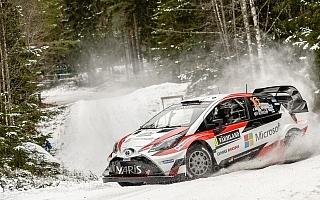WRCスウェーデン:【動画】トヨタ、WRC復帰2戦目に向けシェイクダウンで最終調整
