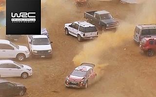 WRCメキシコ:最終ステージでコースオフも、シトロエンのミークが劇的勝利【動画】