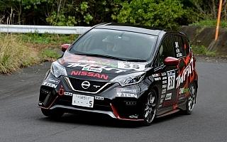 日産ノートが全日本ラリーに初参戦、2度のベストタイムを獲得しクラス4位入賞