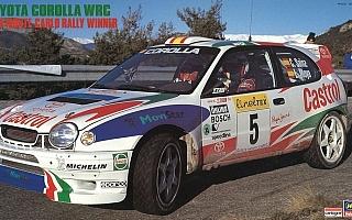 """ハセガワ、トヨタ・カローラ WRC """"1998 モンテカルロ ラリー ウィナー""""のプラモデルを再生産"""