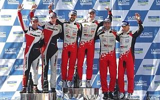 WRCフィンランド:トヨタ1-3フィニッシュの活躍に豊田章男社長がコメント