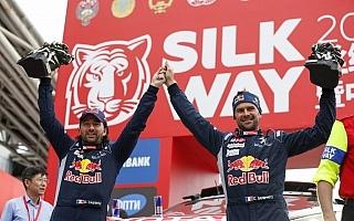 シルクウェイラリー:西安でフィニッシュ、デプレが2連覇