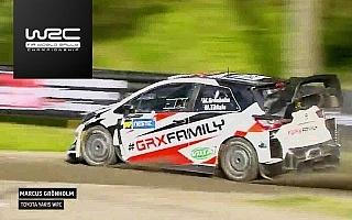 WRCフィンランド:グロンホルムがヤリスWRCでデモラン、シェイクダウン〜デイ1動画