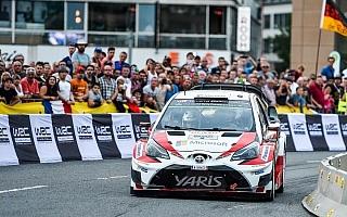 WRCドイツ:初日のスーパーSSを終えトヨタの3台は堅調な滑り出し