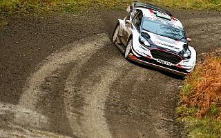 WRCラリーGB:シェイクダウンはエバンスがトップ