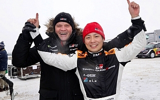 WRCスウェーデン:WRC2優勝の勝田貴元に豊田章男社長がメッセージ
