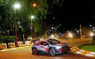 WRCアルゼンチン:SS1はヒュンダイのティエリー・ヌービルがベストタイム