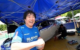 全日本ラリー久万高原:SS3を終えて新井が首位「ブレーキ以外マシンに問題はない」