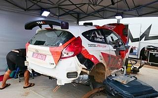 WRCイタリア:新井大輝、WRC2ベストタイムを記録するもリタイア