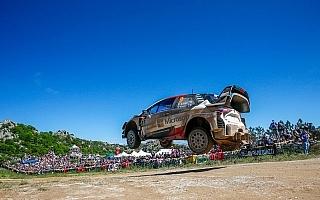 WRCイタリア:デイ3でトヨタのラッピが総合3位に浮上、ラトバラはリタイア