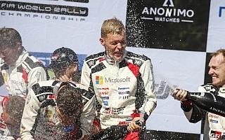 WRCフィンランド:タナック「師匠と同じことができたのは初めて」イベント後記者会見