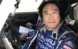 全日本ラリーいわき:SS11を終えて新井が10.4秒差の首位