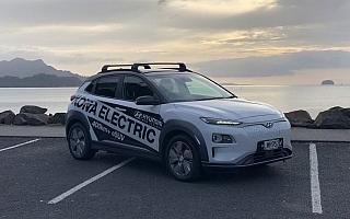 パッドン、ニュージーランド国内戦のレッキを電気自動車で実施