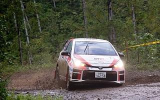 全日本ラリーいわき:TGR Vitz GRMN Rallyが今季初勝利