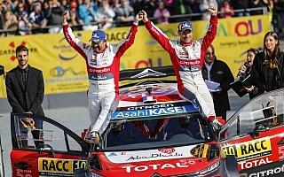 WRC スペイン:ローブ「あのタイヤチョイスは経験の賜」イベント後記者会見