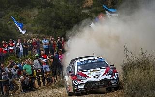WRCスペイン:グラベル路面のデイ2、渾身の走りでタナクがトップ
