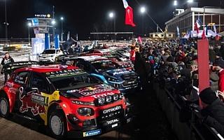 WRCスウェーデン:雪と氷のラリーが開幕、SS1はヒュンダイのヌービルがトップ