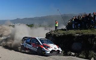 WRC第7戦ポルトガル:競技2日目を終え、トヨタが1-2体制堅持。勝田はWRC2の2番手につけるもリタイア