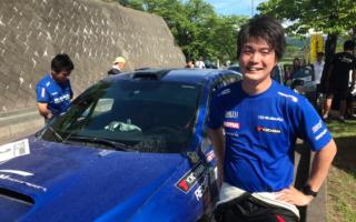 全日本ラリー横手:初開催の横手で5連続ベストタイムの新井大輝が首位を独走