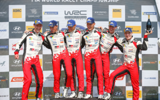 WRCドイツ:タナックがラリードイツ三連覇。トヨタ・ヤリスWRCが表彰台を独占
