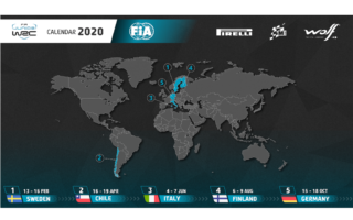2020年のJWRCカレンダーが発表、チリほか全5戦