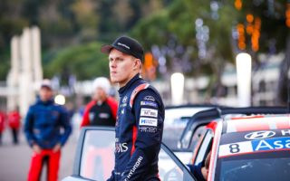 WRCモンテカルロ:ヒュンダイからの初参戦、3位発進のタナック「まだ感覚がおぼつかない」